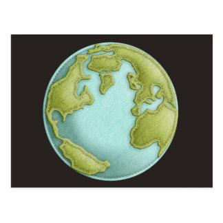 Postal cosida 3D del modelo de la tierra