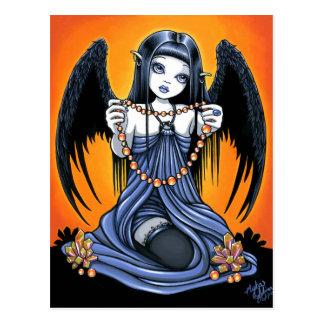Postal cristalina gótica del arte del ángel de la
