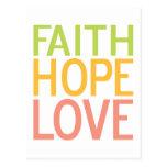 Postal cristiana inspirada del amor de la esperanz