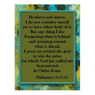 Postal cristiana inspirada del verso de la biblia
