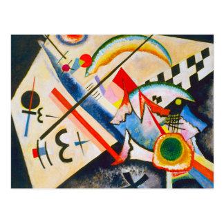 Postal cruzada blanca de Kandinsky