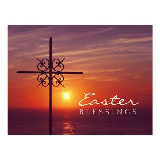 Postal cruzada cristiana de Pascua