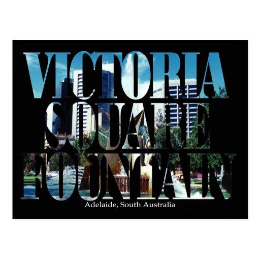 Postal cuadrada de la fuente de Victoria