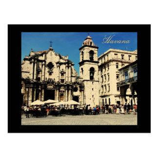 Postal cuadrada de La Habana