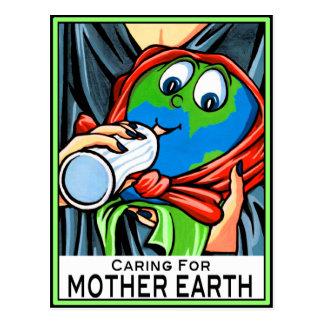"""Postal: """"Cuidando para la madre tierra """""""