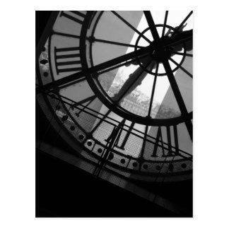 Postal d Orsay del reloj de Musee