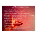 Postal de 10 mandamientos