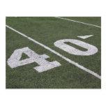 Postal de 40 líneas de yardas