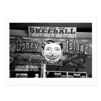 postal de 50c Skeeball Coney Island NY