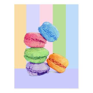 Postal de 5 rayas de Macarons