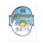 postal de Alaska de la cerveza del sol