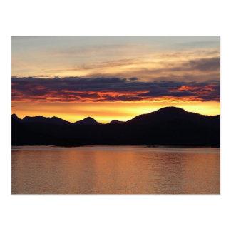 Postal de Alaska de la puesta del sol I