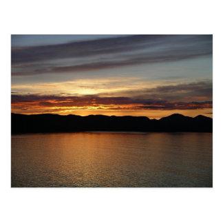 Postal de Alaska de la puesta del sol II