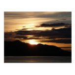 Postal de Alaska de la puesta del sol III