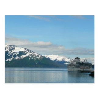 Postal de Alaska de la travesía