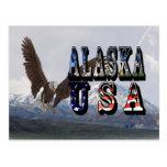 Postal de Alaska el monte McKinley