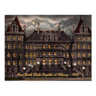 Postal de Albany NY del capitolio del estado