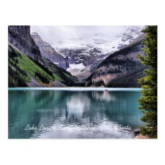 Postal de Alberta del parque nacional de Lake