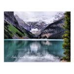 Postal de Alberta del parque nacional de Lake Loui