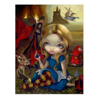 """Postal de """"Alicia y de los monstruos de Bosch"""""""