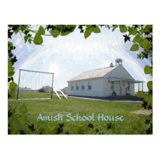 Postal de Amish, casa de la escuela. AÑADA EL