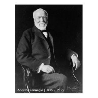 Postal de Andrew Carnegie