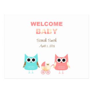 Postal de Annoucement del bebé