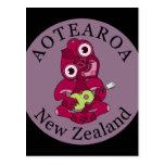 Postal de Aotearoa del Ukulele de Hei Tiki