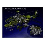 Postal de Apache del arco AH-64