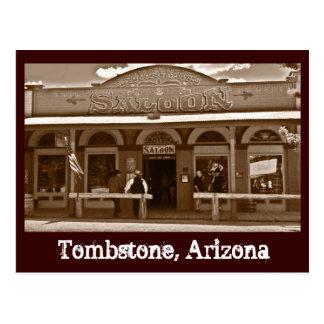 Postal de Arizona de la piedra sepulcral del salón