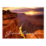 Postal de Arizona de la puesta del sol del parque