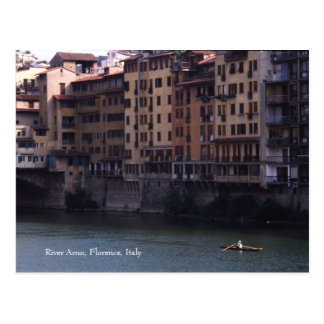 Postal de Arno, Florencia, Italia el  