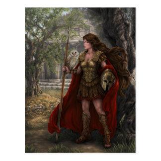 Postal de Athena de la diosa del artista Lindsay A