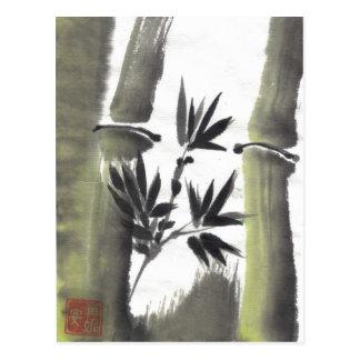 Postal de bambú brumosa