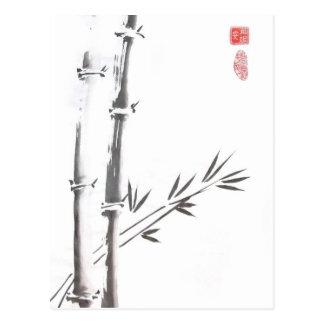 Postal de bambú noble