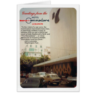 Postal de Beirut del hotel del comodoro Felicitación