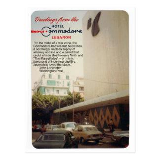 Postal de Beirut del hotel del comodoro