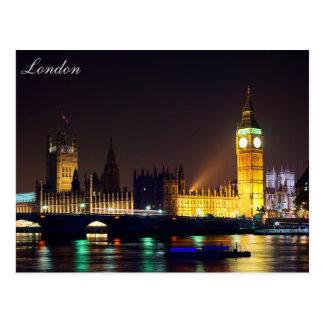 Postal de ben grande del río de Londres