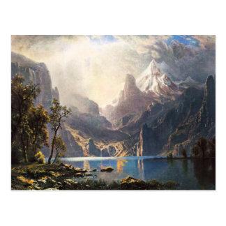 Postal de Bierstadt el lago Tahoe