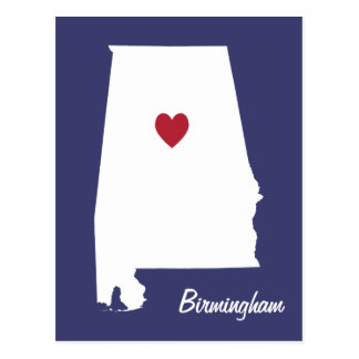 Postal de Birmingham Alabama