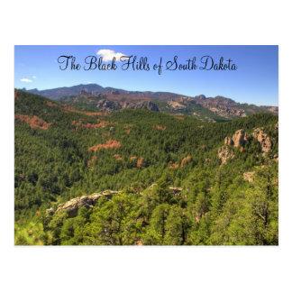Postal de Black Hills Dakota del Sur