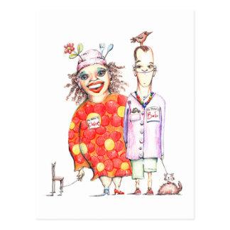 Postal de Bob y de Claire de Lune