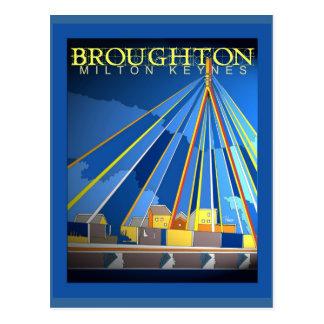 Postal de Broughton del art déco
