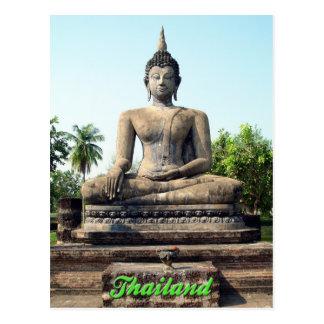 Postal de Buda Sukhothai Tailandia