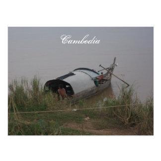 Postal de Camboya