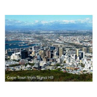 Postal de Cape Town de la colina de la señal