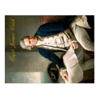 Postal de capitán James Cook, descubridor de Hawai