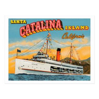 Postal de Catalina del buque de vapor