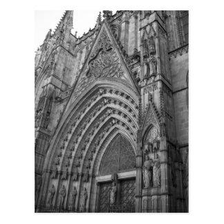 Postal de Catedral del La (Barcelona, España)