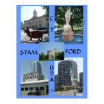 Postal de centro céntrica de Stamford Ct